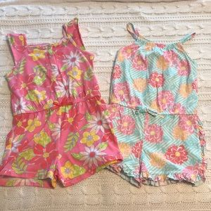 Lot of 2 girls rompers